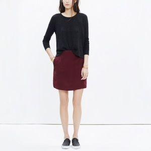 Madewell Silk Distance Skirt in Burgundy